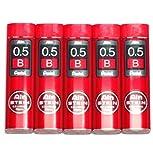 Pentel Ain Pencil Leads 0.5mm B, 40 Leads X 5 Pack/total 200 Leads (Japan Import) [Komainu-Dou Original Package]