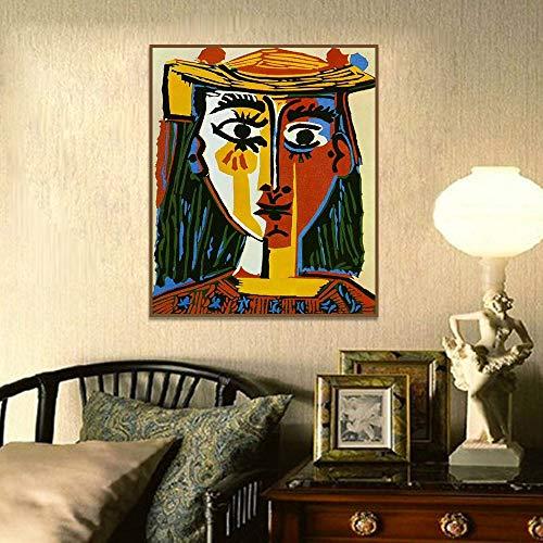 Oszagh Impresiones en Lienzo, Cuadro en LienzoPablo Picasso -Cubism Living 50cmx70cm sin MarcoPoster HD Mural Moderno Decoracion