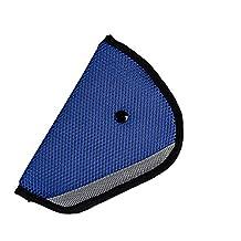 JCNCE Car Child Safety Cover Harness Repositions Strap Adjuster Pad Kids Seat Belt Seatbelt Clip Booster Adult Children Seat Belt Clips (Blue)