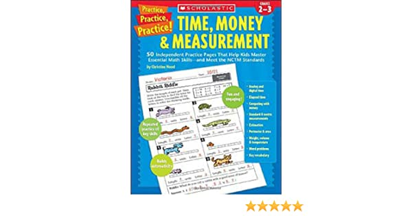 Amazon.com: Time, Money & Measurement: 50 Independent Practice ...