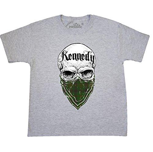 Tartan Bandit Youth T-Shirt Youth Large (14-16) Ash Grey (Kennedy Ash Grey T-shirt)