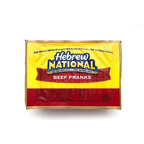Hebrew National Beef Frank, 5 Pound -- 4 per case.