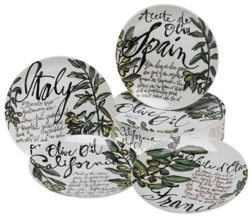 Rosanna Olive Oil Gift-boxed Dessert Plates, Set of 4
