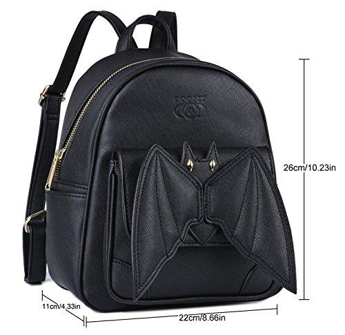 Casual Backpack Black for Bat Mini Coofit Backpack Backpacks Small Girls Schoolbag Daypack Mini Daypack Backpack School qWAXzzw1