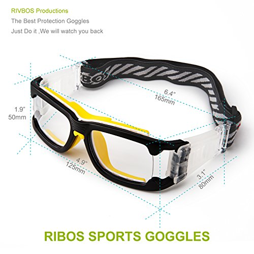 0d228fe5e1 RIVBOS 1825 Safety Sports Glasses Protective Sports Goggles with ...