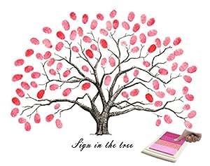 DIY Signature Canvas Print Guest Sign In Book DIY ...  |Diy Fingerprint Tree