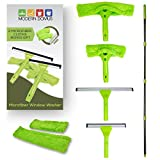 window cleaning tool kit - Neverending Reach Squeegee Window Cleaner Kit! Shower Squeegee, High Window Cleaning Tools, Car Windshield Tool Doors - Indoor/Outdoor Washing Equipment Extension Pole 4 Washer Heads