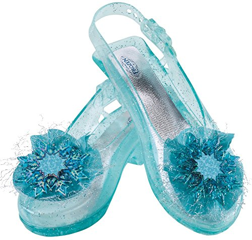 Costumes Elsa (Disney's Frozen Elsa Shoes Girls Costume, One Size Child)