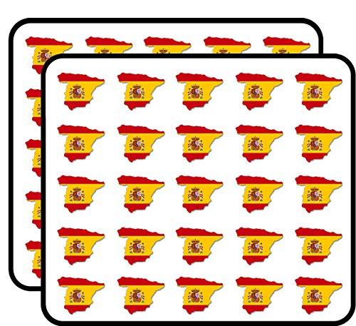 Spain Shaped Spanish Flag (Country Barcelona Love Espana) Sticker for Scrapbooking, Calendars, Arts, Kids DIY Crafts, Album, Bullet - Scrapbooking Spain