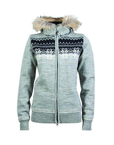 Dale of Norway Fl?yen WP Veste pour Femme gris - Gris anthracite clair/blanc cass