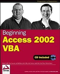 Beginning Access 2002 VBA (Programmer to Programmer)