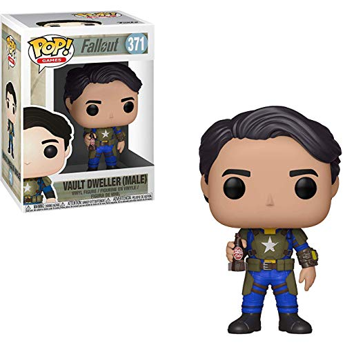 Funko Vault Dweller [Male]: Fallout x POP! Games Vinyl Figure & 1 PET Plastic Graphical Protector Bundle [#371 / 33974 - B]