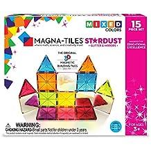 Magna-Tiles 15Piece Stardust Set – The Original, Award-Winning Magnetic Building Tiles – Creativity & Educational – Stem Approved