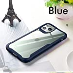 REALCASE Clear Case Gel TPU Bumper Back Cover for Apple iPhone 11 (E-Blue)