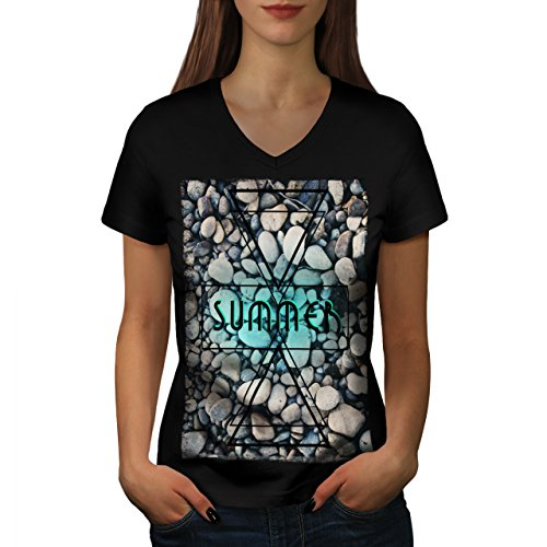 Playing Card Win Spade Ace Women NEW S V-Neck T-shirt | Wellcoda (Ace Of Spade Boot)