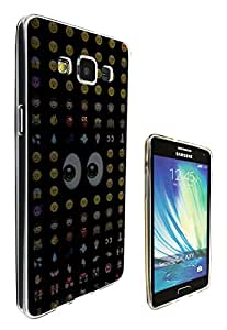 626 - Cool Smiley Faces emoji Funky Design Samsung Galaxy J1 Fashion Trend Hard Plastic Case Protective Full Case Front, Back & All Edges Protection Case Cover