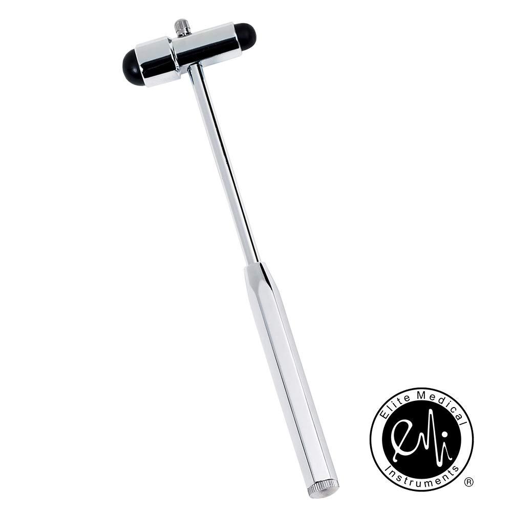 EMI Buck Neurogical Reflex Testing Hammer with Needle and Brush (Black)