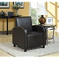 ACME Maxie Black Faux Leather Accent Chair