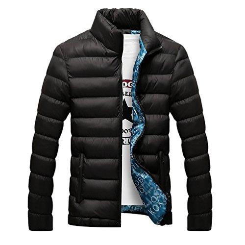 Yuandian Invernali Caldo Di Collare Piuma shirt Del Imbottito Prova Uomo senza T Vento Piumini Giubbotto Impermeabile Nero 1 Leggero Cappotti A Basamento Giacca Addensare wwzr4O5xq