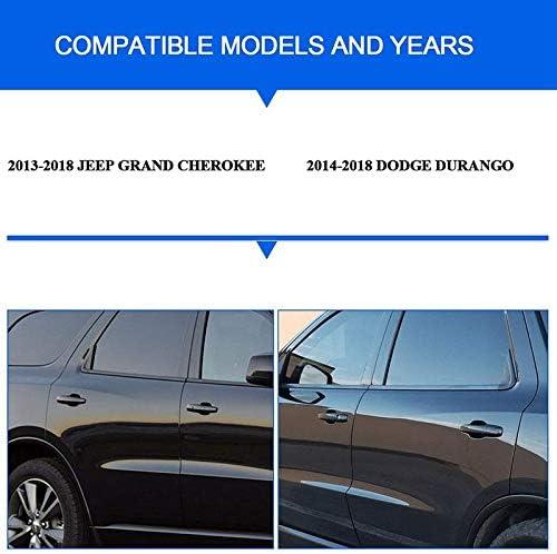 Sothat Door Handle Cover Compatible for Grand Cherokee Door Handle Cover with Smart Keyhole for 2014-2018 Durango 2013-2018 Grand Cherokee