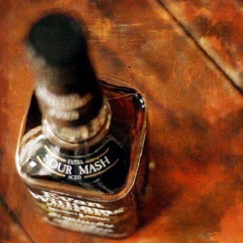 Wood Wall Art Photography - Bourbon Themed Decor: Evan Williams Sour Mash bourbon Black Label, 11