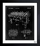 Table Soccer Game 1991' Vintage Framed Wall Art Print for Home decor & Office. The Sports Wall Decor Blueprint Collection by The Oliver Gal Artist Co. 26x32 inch