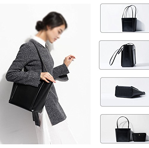 Mujer Nuevo PU Europa Y Los Estados Unidos Bolso Bolsas De Hombro La Moda Bolsa De Mano Black