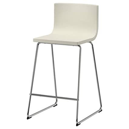 Magnificent Amazon Com Ikea Asia Bernhard Bar Stool With Backrest Andrewgaddart Wooden Chair Designs For Living Room Andrewgaddartcom