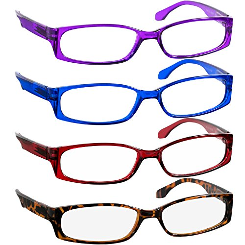 Reading Glasses 3.75 Purple Red Blue Tortoise F503 (4 ()