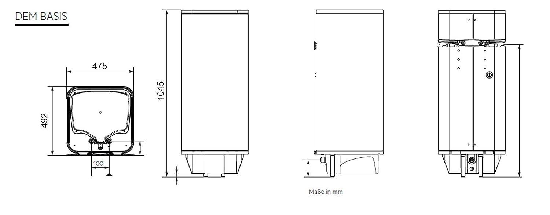 120l 2-6 kW AEG Wandspeicher DEM 120 Basis Variowall Schnellaufheiztaster drucklosen und druckfesten Betrieb 234200 stufenlose Temperaturwahl 30-85 /°C