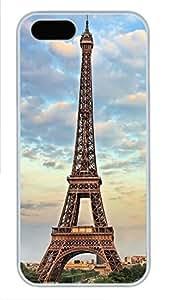 iPhone 5 5S Case Eiffel Tower Paris Under The Sky PC Custom iPhone 5 5S Case Cover White