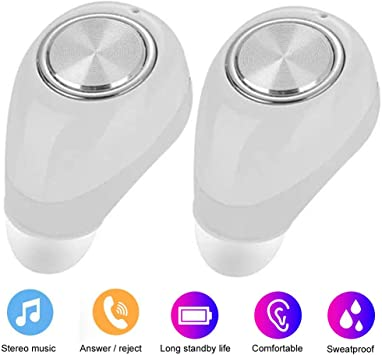 Amazon Com True Wireless Earbuds Bluetooth Earphone Dual Bluetooth Headphones Noise Cancelling Earpieces For Iphone 11 Xs 8 8 Plus 7 Plus 6s Plus Samsung S10 S8 Plus S7 Edge S6 Note 10