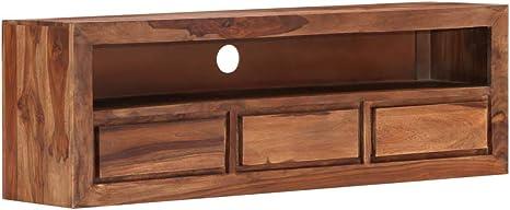 Vidaxl Sheesham Holz Massiv Tv Schrank Board Tisch Möbel Lowboard Fernsehtisch Fernsehschrank Sideboard Fernseher Schrank Fernsehmöbel 120x30x40cm Küche Haushalt