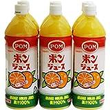 POM ポンジュース オレンジ 1L ペットボトル 6本入り ×3ケース 【 果汁100%  ミックスジュース 】