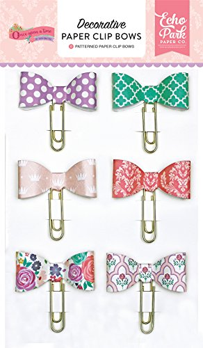 Echo Park Paper Company Once Paper Clip Once Once Upon A Time-Princess Paperclip Bows