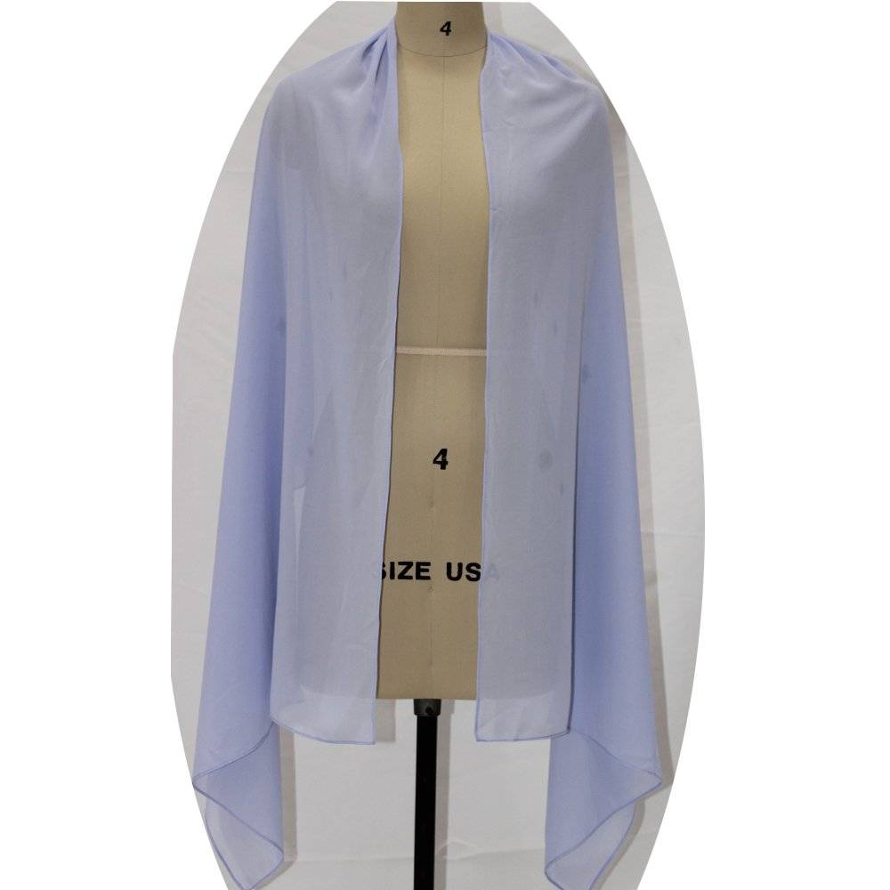 Lanbaodress Wedding Jacket Wraps Bolero Chiffon Women Cap Wrap Shrug For Evening Dresses Lavender