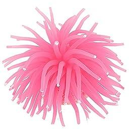 Namsan Aquarium Fish Tank Artificial Soft Silicone Sea Urchin Ornament,3-inch Diameter,Pink