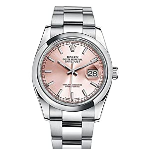 Best Epic Trends 51VBaxrCHhL._SS300_ Rolex Datejust 36 Pink Index Dial Oyster Watch 116200