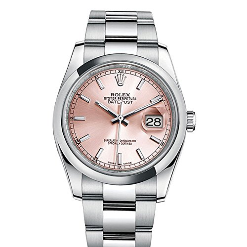 - Rolex Datejust 36 Pink Index Dial Oyster Watch 116200