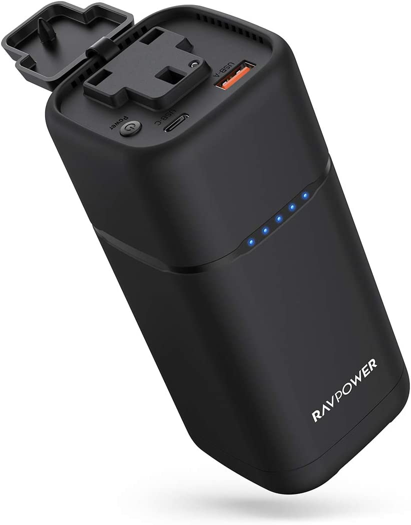 Portable Charger Ravpower 80w Pd 3 0 Ac Power Bank Amazon Co Uk Electronics