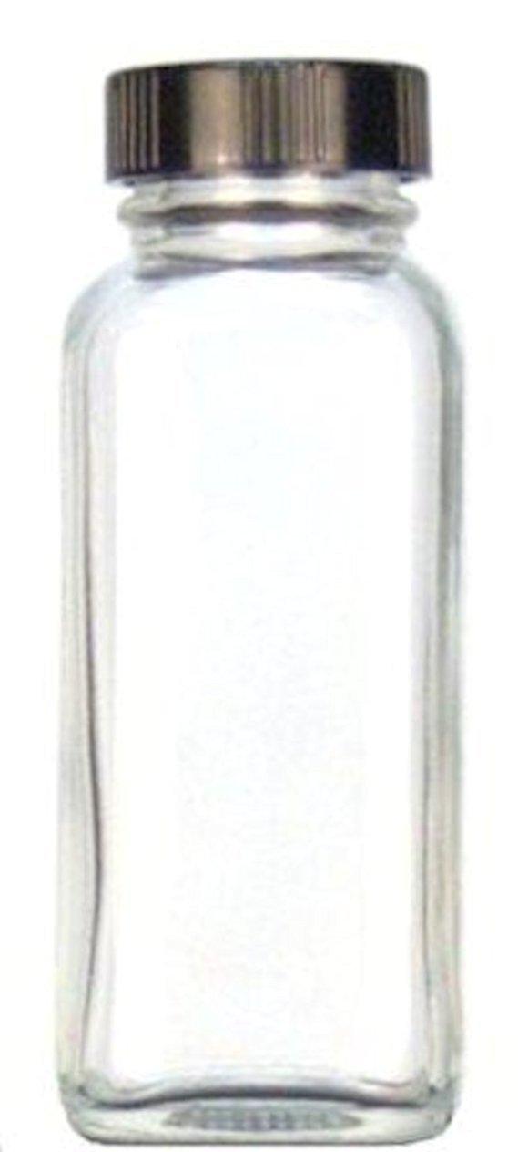 Kimble 5610843 C-24 cristal francés cuadrado botella con tapón, blanco de goma maletero, transparente, 250 ml de capacidad (caso de 84): Amazon.es: ...