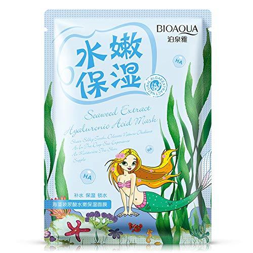 Pure Whitening Skin Repair Essence - KINWAT PURE Hyaluronic Acid Seaweed Essence Repair Mask Face Skin Care Treatment Mask Whitening Ageless Anti Winkles Beauty 1