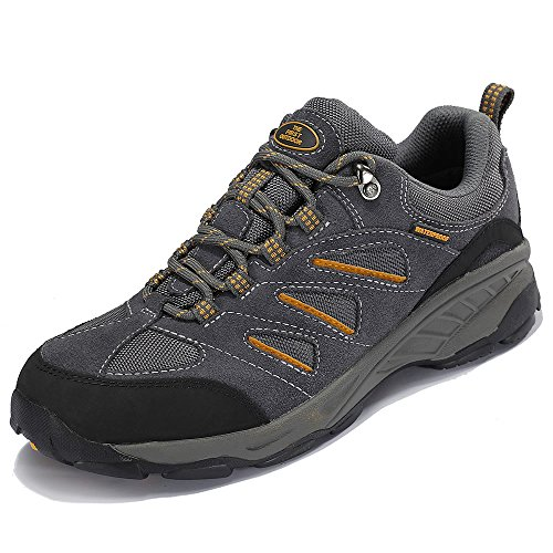 The First Outdoor Men's Breathable Dark Grey Hiking Shoe Trail Sneaker Climbing Mountain Shoes, US 8