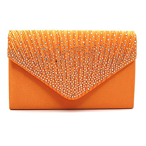 Cluthes Fashion Envelope Highdas Orange Womens Clutch Purse C3 Shoulder Bag YR0q6w