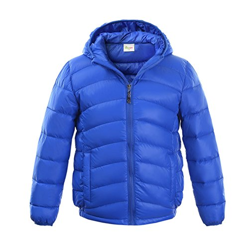 M2C Boys & Girls Ultralight Hooded Duck Down Puffer Packable