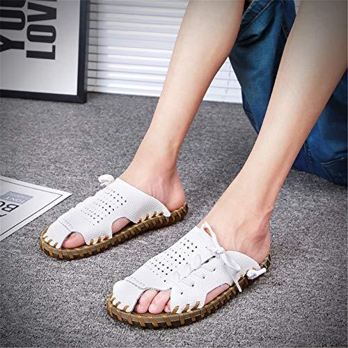 Il Wagsiyi Libero da Pantofole 2 Tempo Colore Per 42 Da Traspiranti Pantofole Dimensione Marrone Scarpe Pelle In 3 pantofole spiaggia Pantofole Uomo EU Marrone 04Wq6R0r
