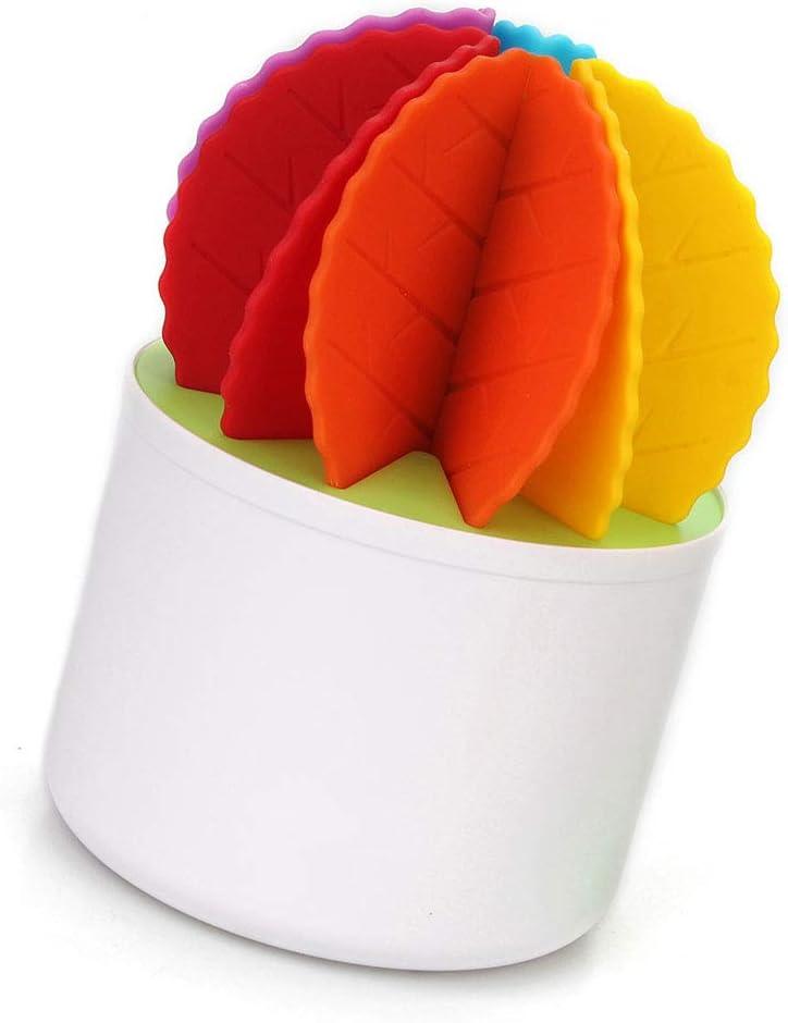 Creativo Cactus Coasters silicone Bonsai design stuoia della tazza termoresistente da tavola Tovaglietta antiscivolo tazza della stuoia colorata 1Set