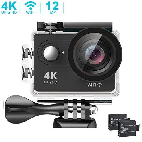 BENEVE Cámara Deportiva,Camara de Accion 4K WiFi Ultra HD Resistente al Agua Sumergible hasta 30m Sensor de Sony 12MP Ultra...