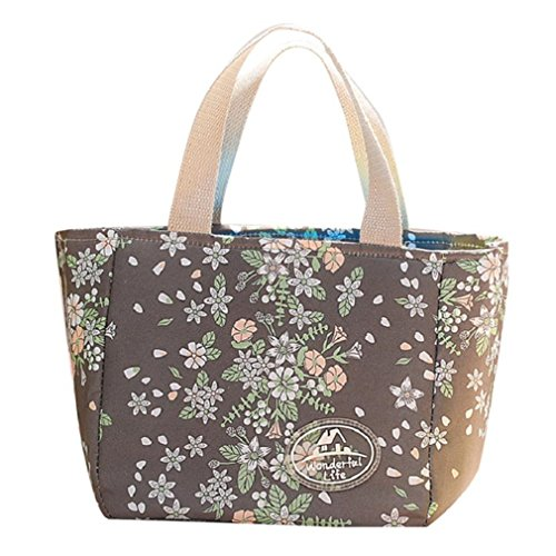 Cooler Lunch Box Insulation Bag Bolsa Termica Printing Floral Thermal Insulated Lunch Bag For Women Girls Portable Carry Tote