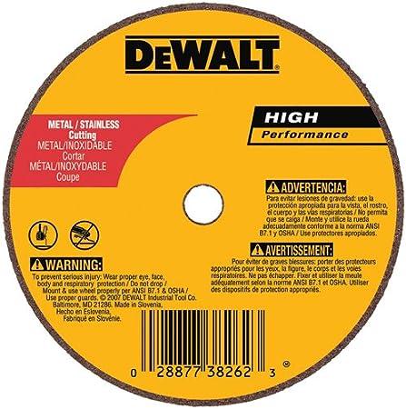 4-Inch X 1//16-Inch X 5//8-Inch DEWALT DW8723 A60T Wheel